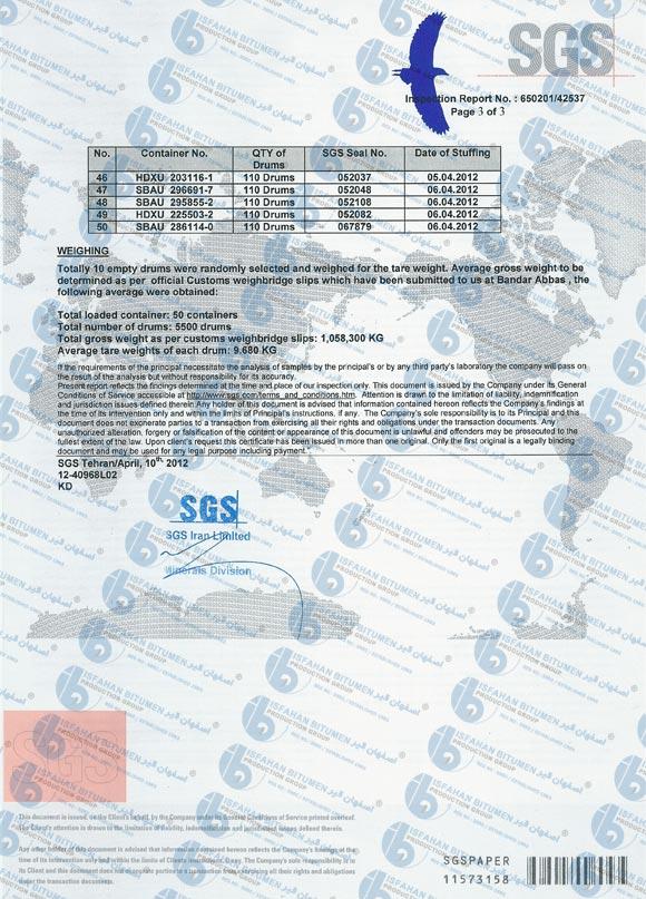 Worldbitumen Com Inspection Certificate