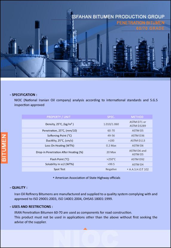 worldbitumen com - Penetration Bitumen 60/70